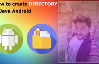 How to create directory in android java.