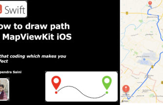 How to draw path in MapViewKit iOS