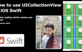 How to use collection view in ios Swift