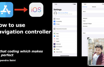 How to use navigation controller in iOS Swift