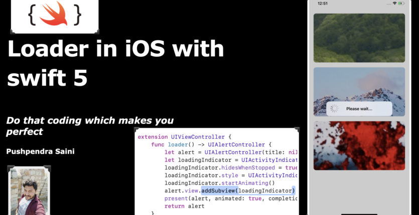 How to create Loader in iOS with swift 5