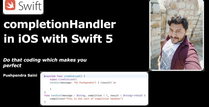 How to use completion handler in iOS with swift 5