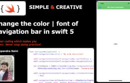 UINavigationBar : Change the color & font in swift 5