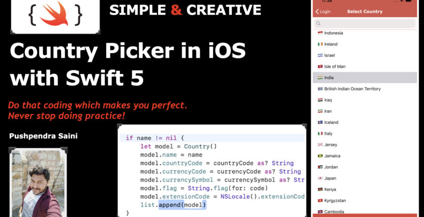 Country Picker in iOS with swift 5