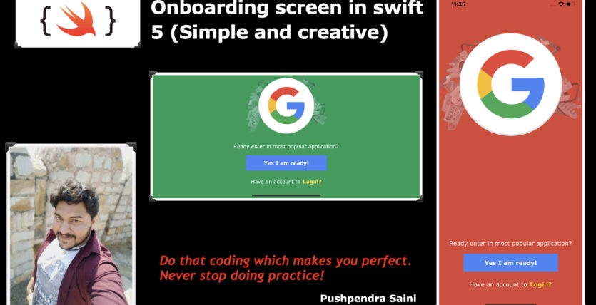 Onboarding screen in iOS with swift 5