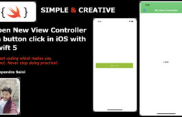 Open New View Controller on button click in iOS with Swift 5