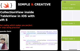 UICollectionView inside UITableView in iOS with Swift 5