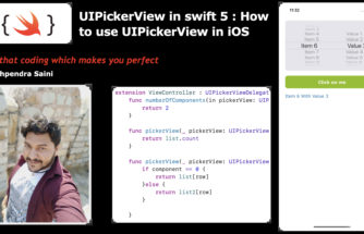 Learn how to Use UIPickerView in swift 5