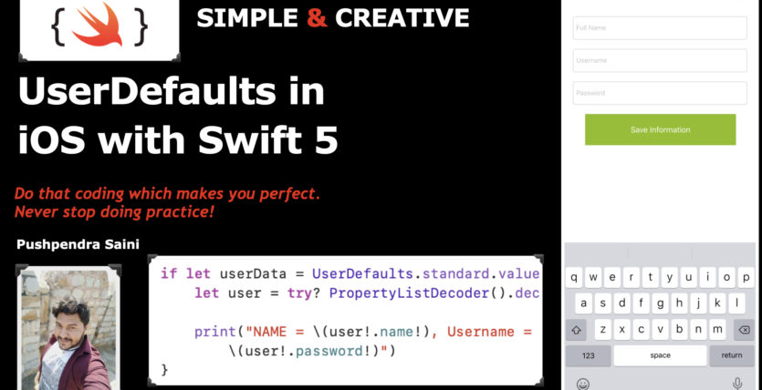 UserDefaults in iOS with Swift 5