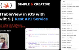 UITableView Controller in iOS with swift 5