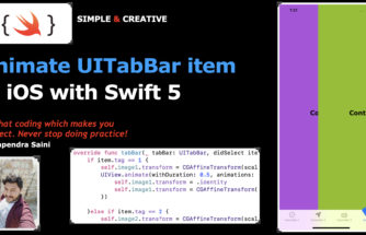 Animate UITabBar Item in ios with swift 5