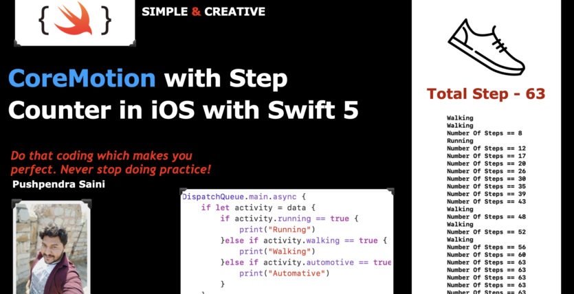 CoreMotion with Step Counter in iOS with Swift 5