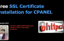 Free SSL Certificate installation for CPANEL