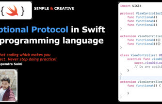 Optional Protocol in iOS with swift 5 programming language