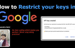 Restrict your keys in Google