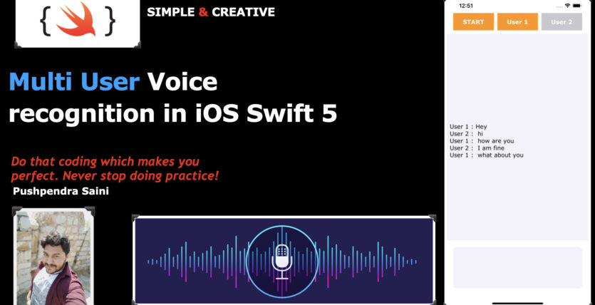 Multi User Voice recognition in iOS Swift 5