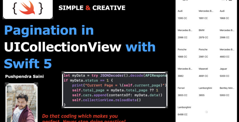 Pagination in UICollectionView with Swift 5